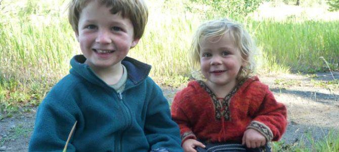 Quelques photos de notre premier voyage à vélo en famille …