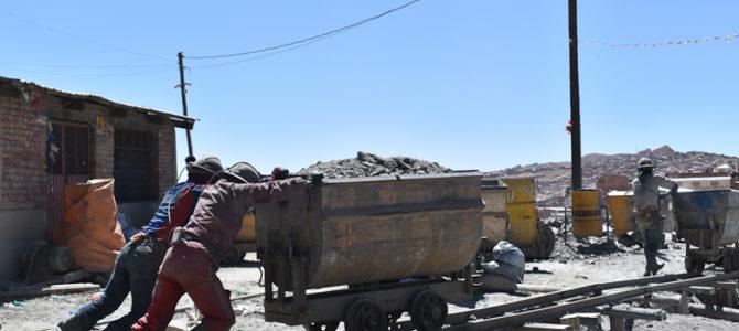 Visite d'une mine du Cerro Rico à Potosi